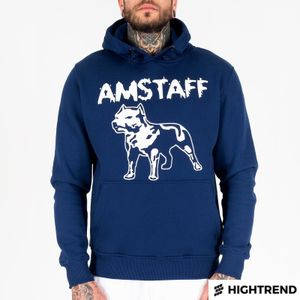 Amstaff Hoodie Logo Navy