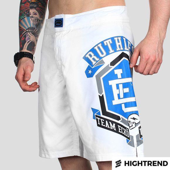 Ecko MMA Shorts Ruthless White
